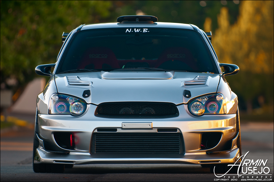 Jeff Hill's STI front end shot