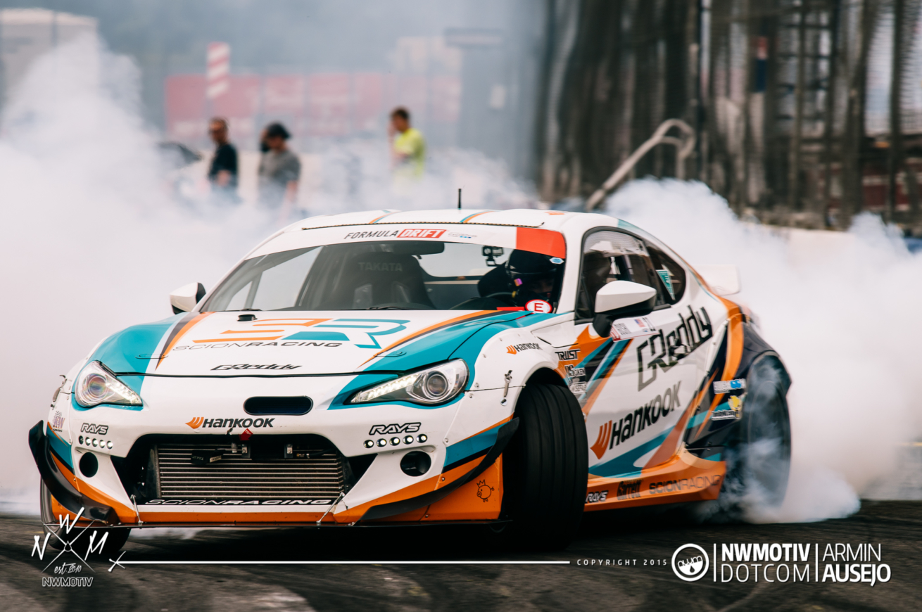 Ken Gushi in the Scion Racing FR-S at Formula DRIFT Seattle 2015