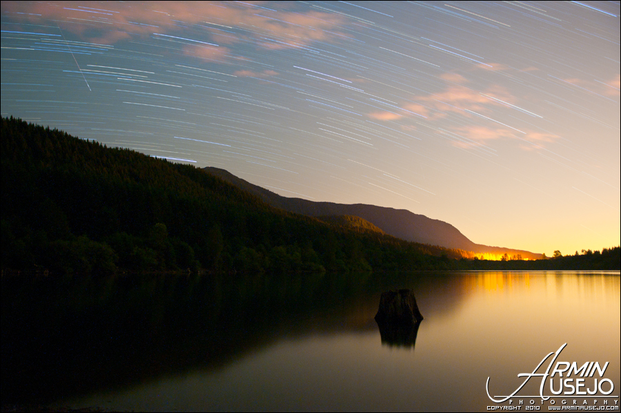 Star Trails with a Shooting Star