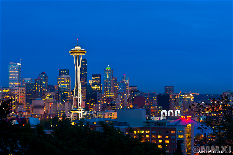 Seattle at Night from Kerry Park
