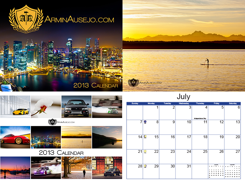 Armin Ausejo Photography 2013 Calendar Preview