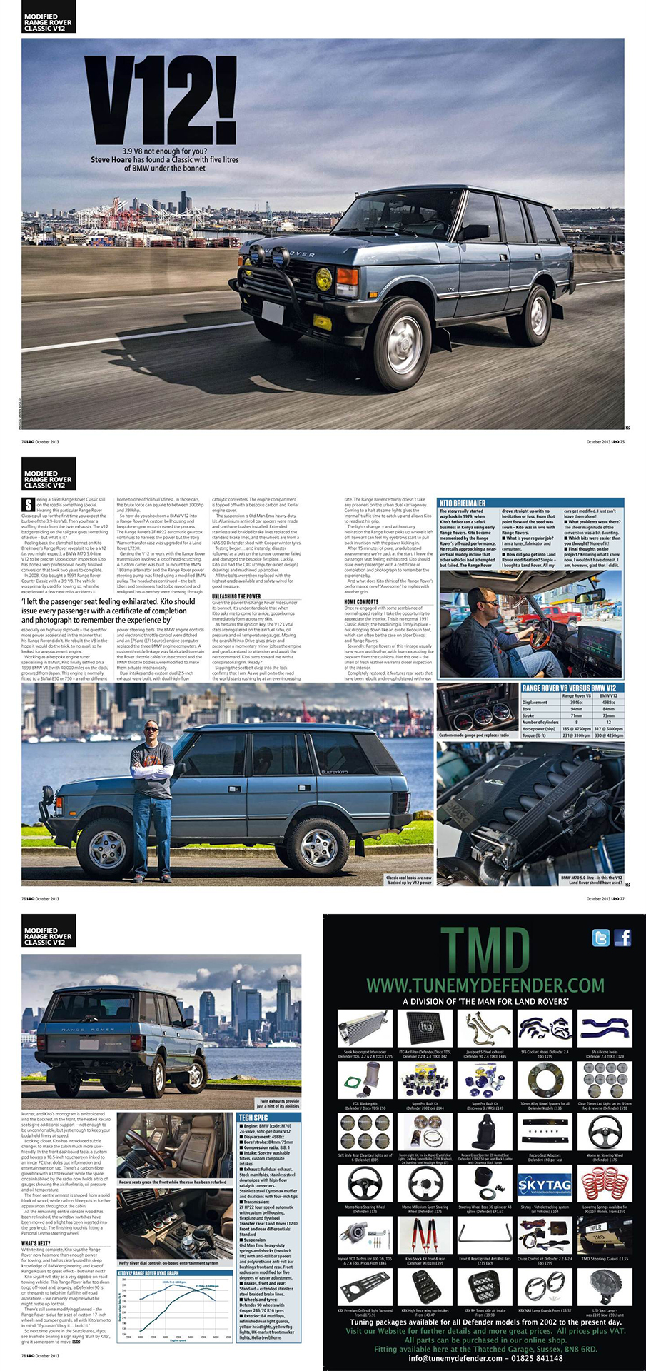 Kito's V12 Range Rover for LRO