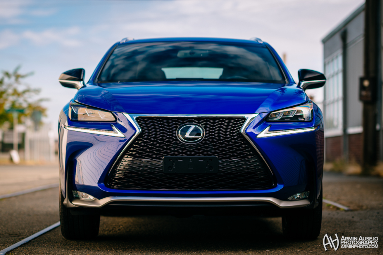 Lexus NX F-Sport in Ultrasonic Blue Mica