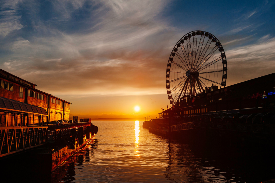 Sunset on the Seattle Waterfront