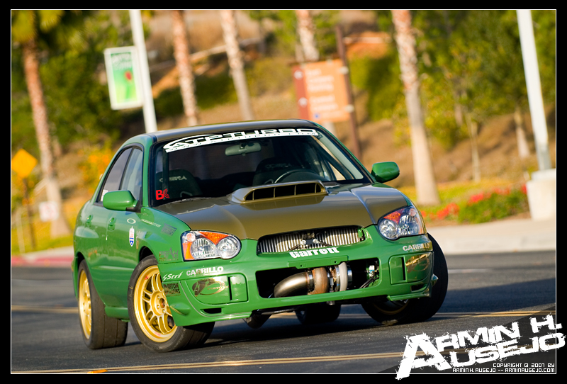 Nick's WRX drag racing car