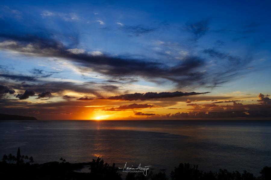 Sunset over Waimea Bay with the Nikon Z7, North Shore Oahu