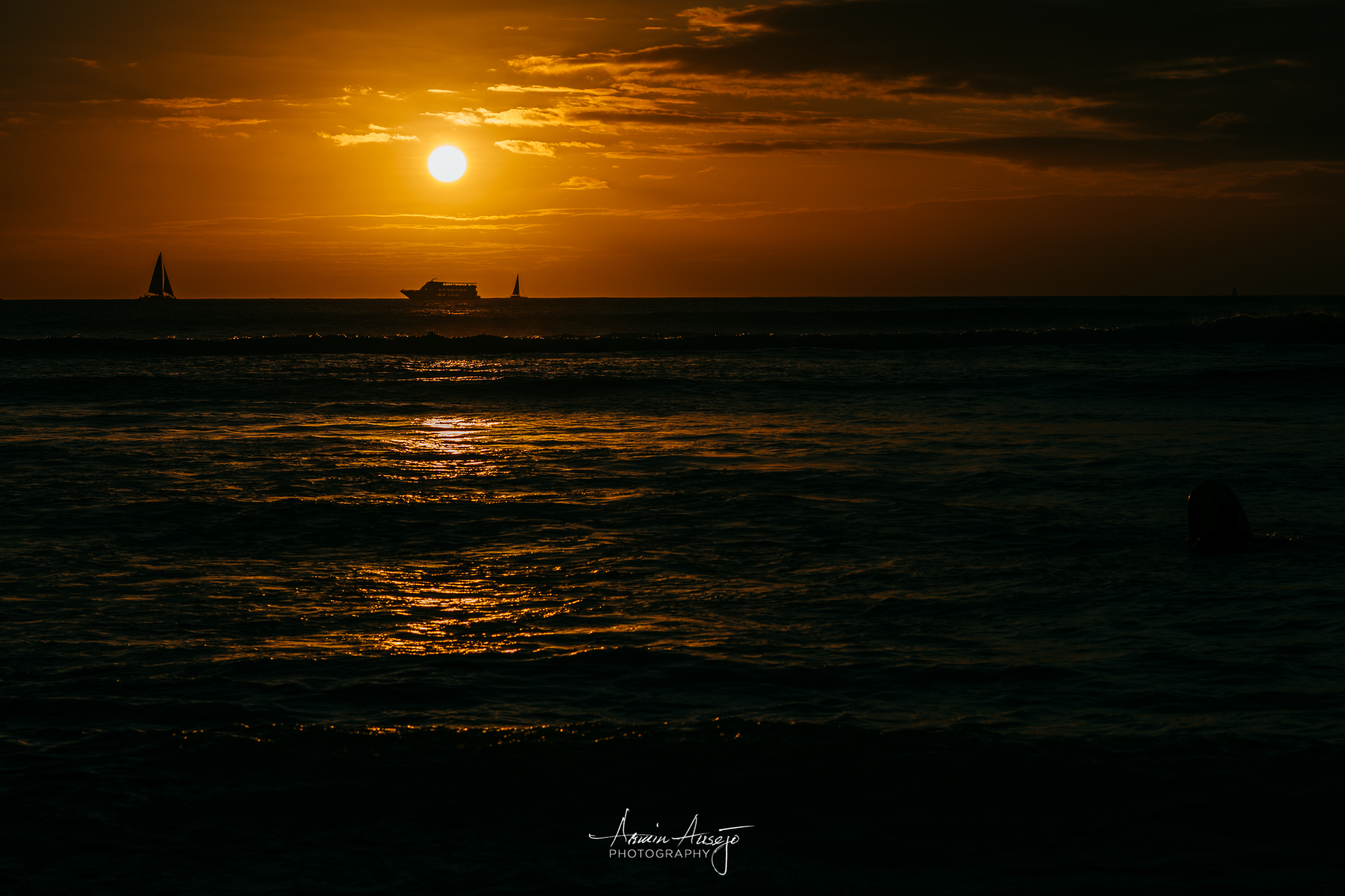 Sunset over Waikiki with the Nikon Z7 and Nikon 85mm f/1.4G