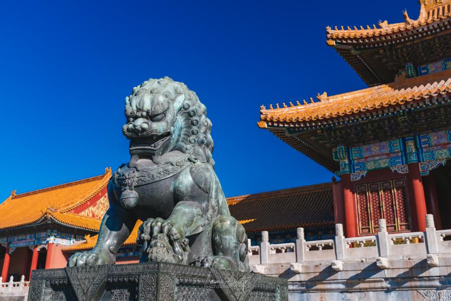Guardian Lion inside the Forbidden City