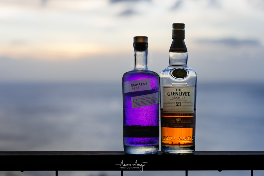 Empress Gin and The Glenlivet 21-Year Scotch
