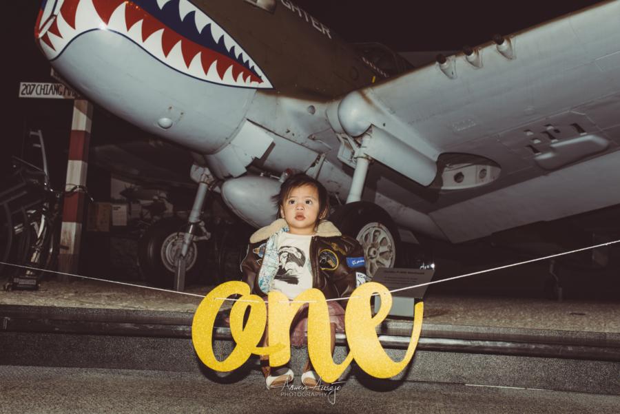 Harper's 1st Birthday at the Museum of Flight