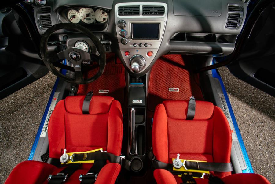 Overhead photo of Bill's Honda Civic interior