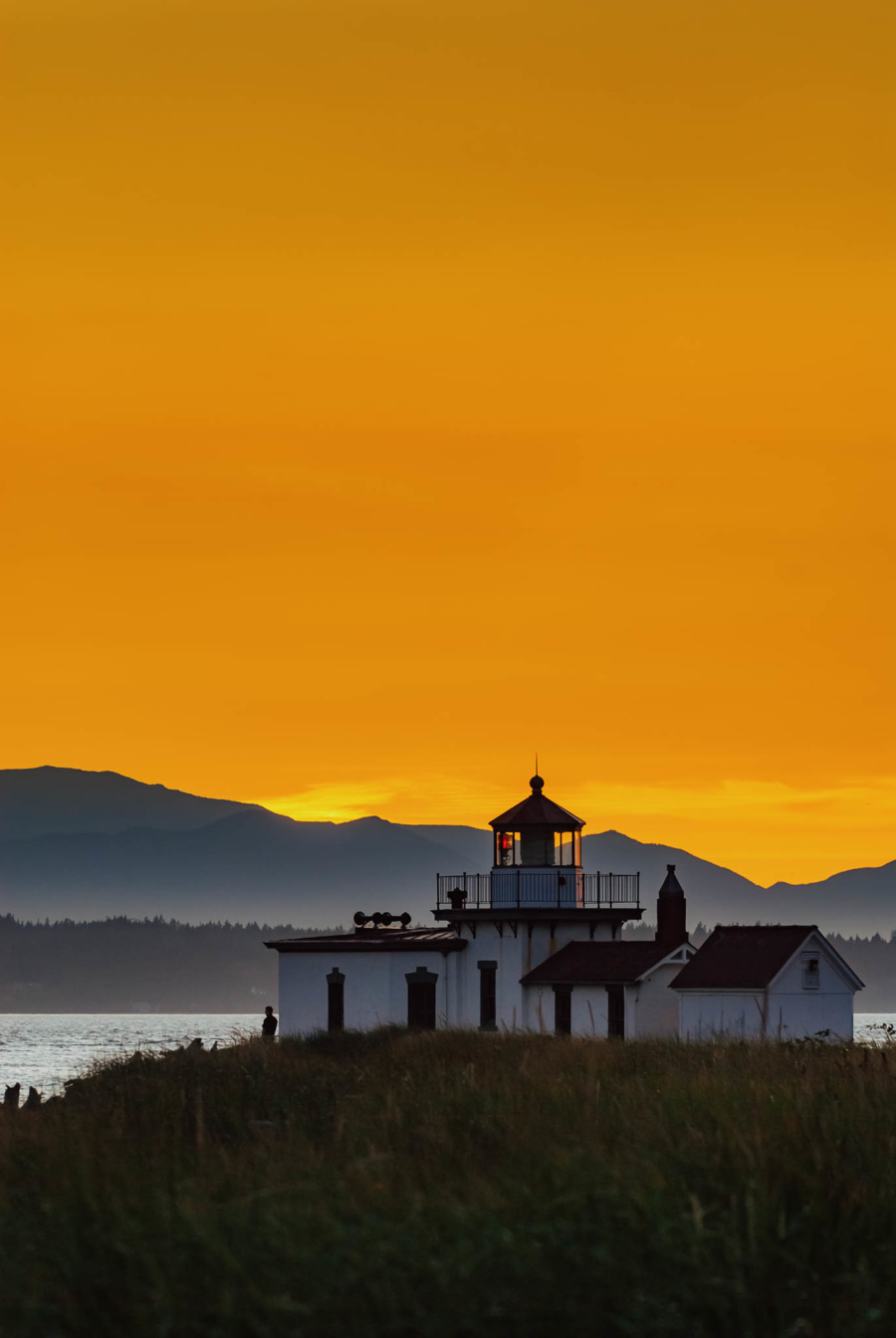 Discovery Park Lighthouse in Seattle, Washington