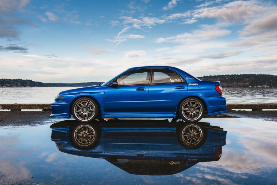 Do-Luck Subaru WRX reflection