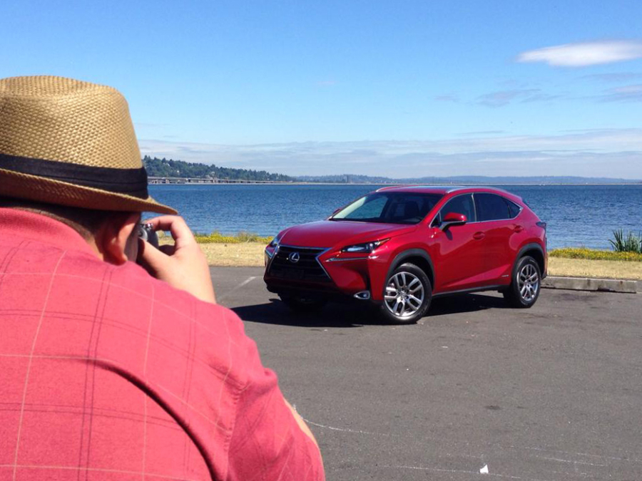 Taking photos of the Lexus NX