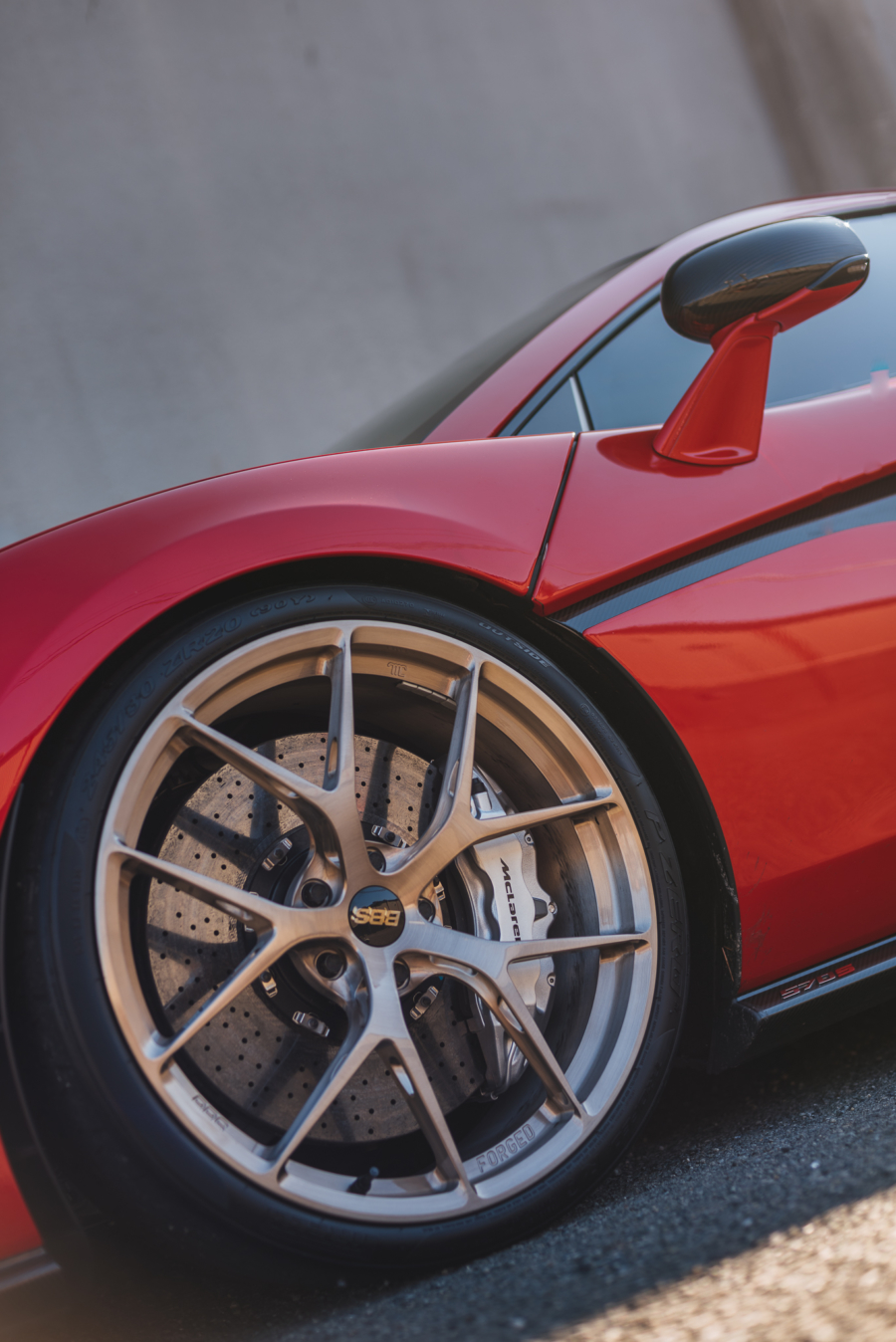 Close-up of Will's BBS wheels on his McLaren 570S
