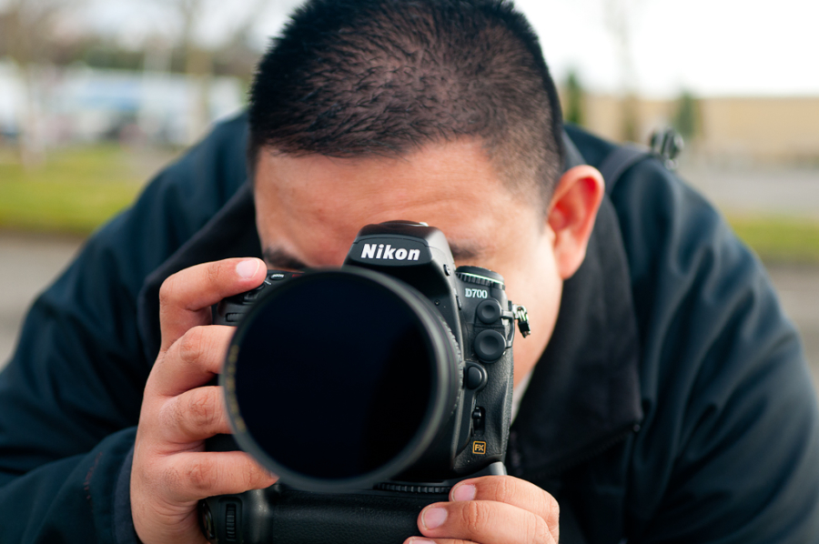 Shooting with the D700, photo by Erich Breitkreutz