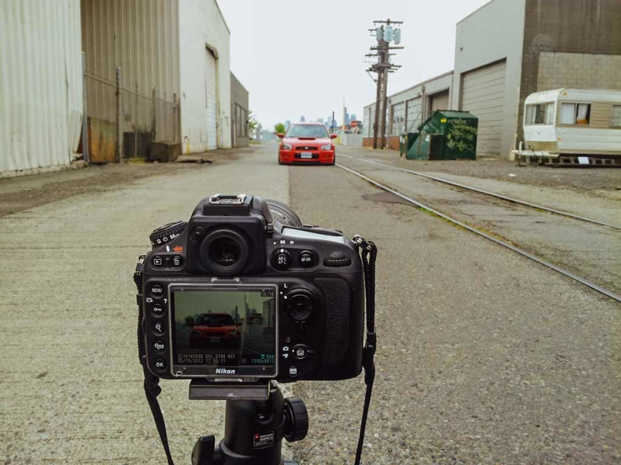 Behind the scenes shooting Katie's WRX