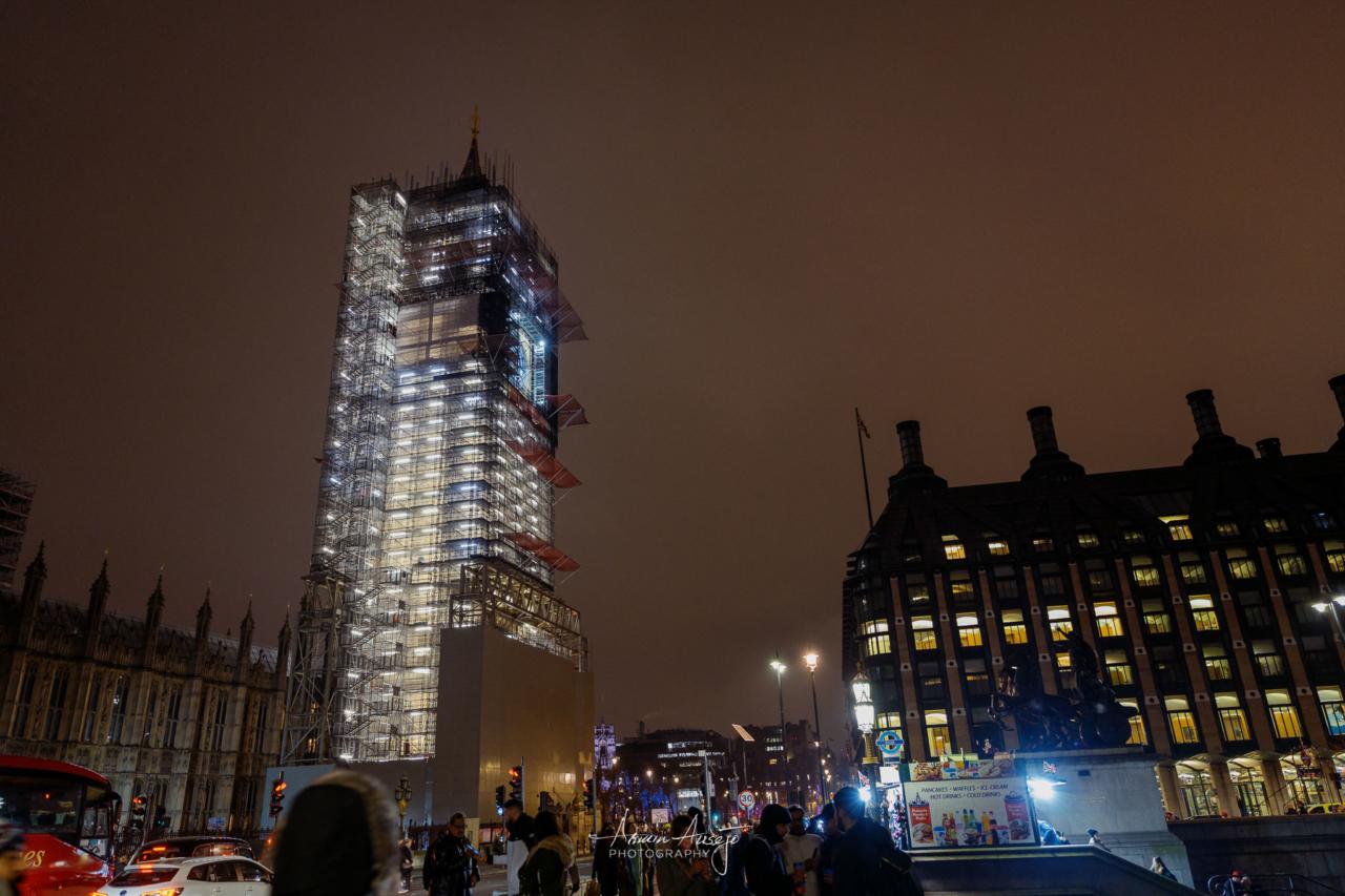 Big Ben in London, January 2020