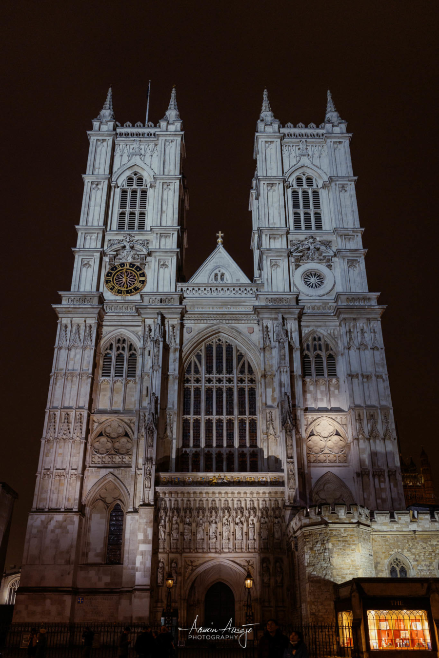 Westminster Abbey in London, January 2020