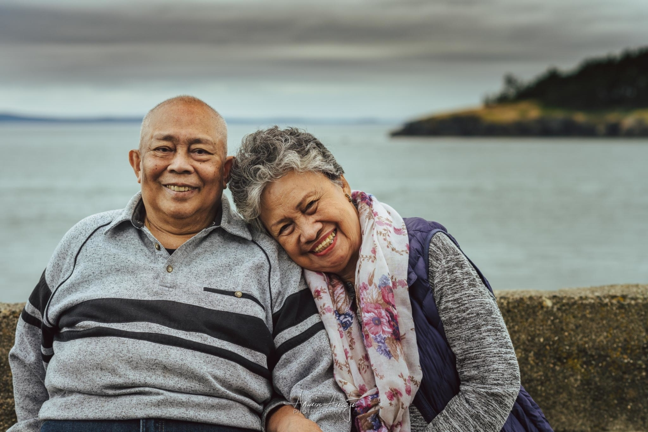 My parents at Deception Pass State Park, June 2020