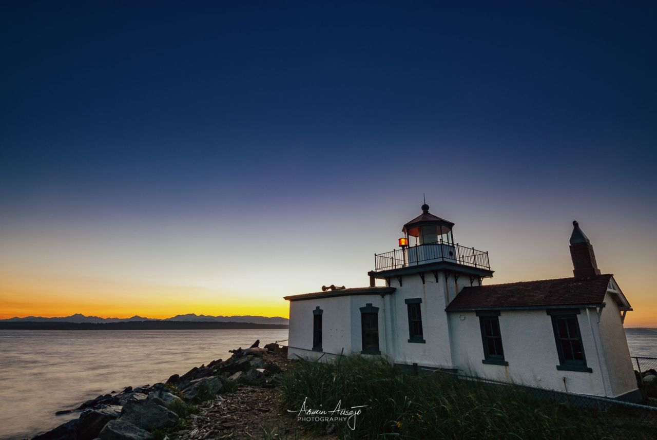 Discovery Park Lighthouse at Twilight, 2006