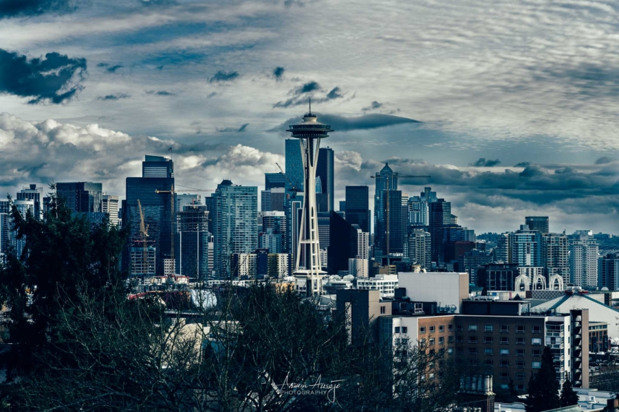 Moody Seattle from Kerry Park, February 2020