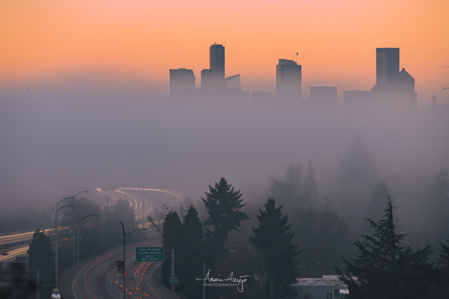 Foggy Seattle Skyline, November 2020