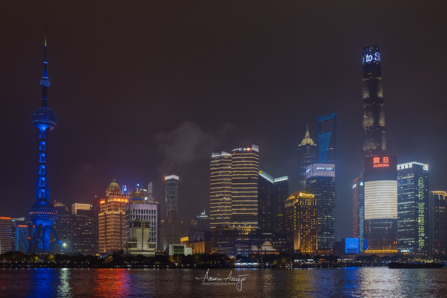 Shanghai Skyline at Night, 2018